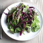 Smoky Maple Greens and Cabbage Salad