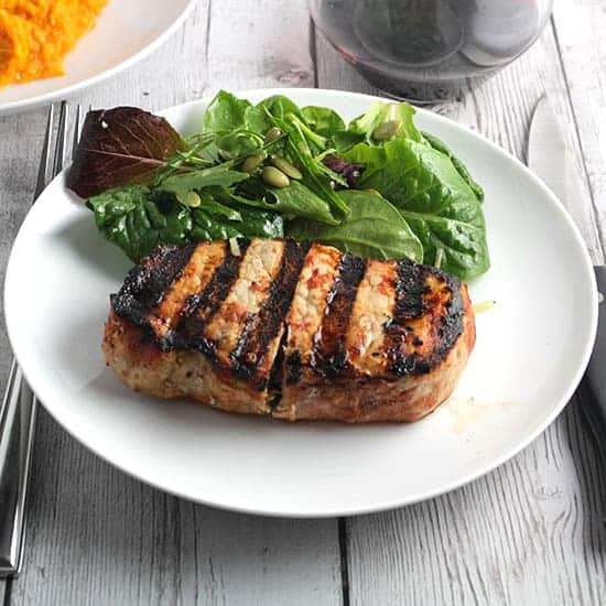 grilled pork chops, an example of a tasty food photo from Cooking Chat.