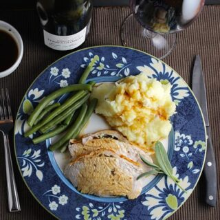Garrigue Roasted Turkey Breast is a good option for a smaller Thanksgiving crowd, and goes perfectly with a Languedoc red wine.