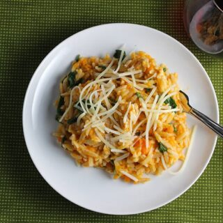 Orzo with Leftover Turkey and Sweet Potatoes makes a tasty use of leftover turkey!