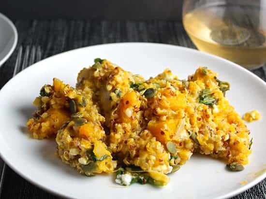Butternut Squash and Quinoa Casserole | cookingchatfood.com