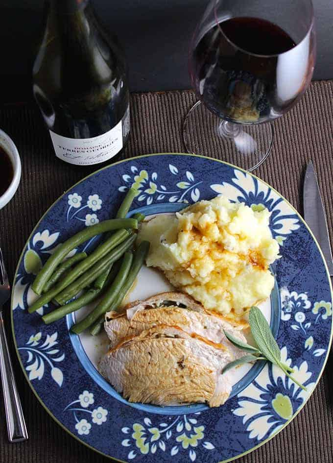 Roast turkey is often featured in holiday meals. 5 tips for preparing food for the holidays. Guest post on cookingchatfood.com