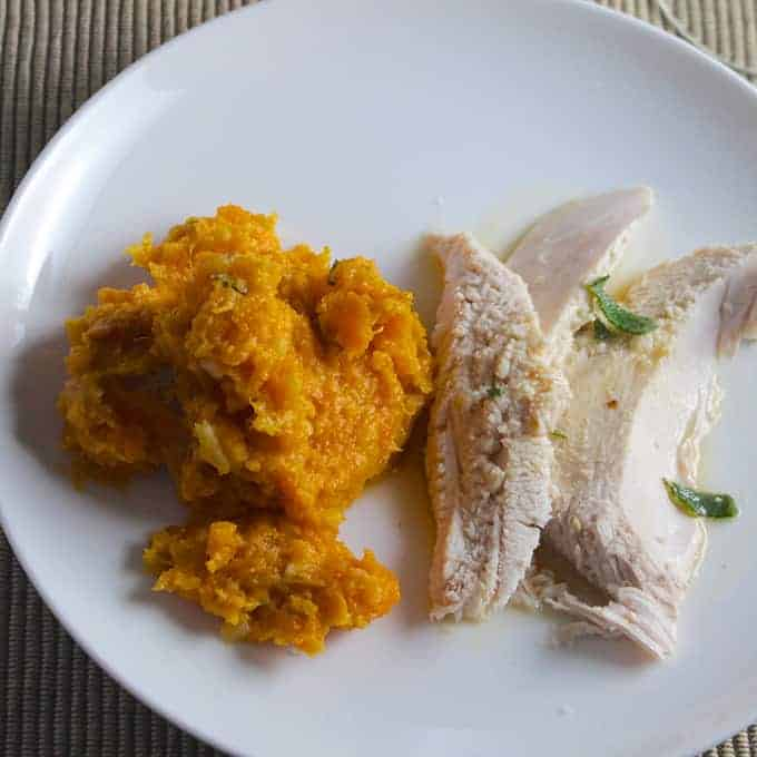 Herb Roasted Turkey served with Sweet Potatoes with Cumin Sage Butter | cookingchatfood.com
