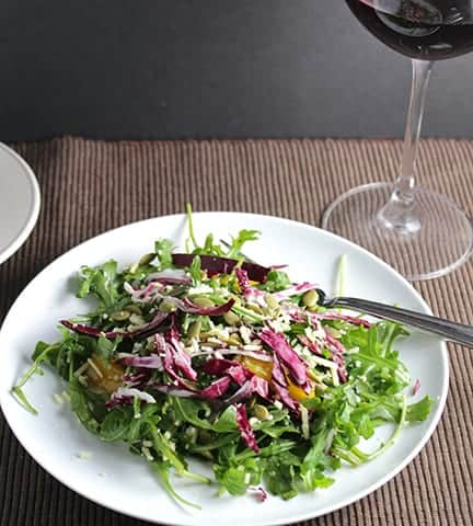 Tuscan Arugula Salad with radicchio