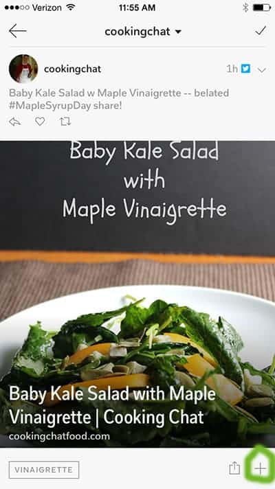 showing how to flip a recipe onto a flipboard