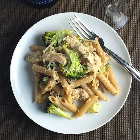 Lightened Chicken and Broccoli Pasta recipe