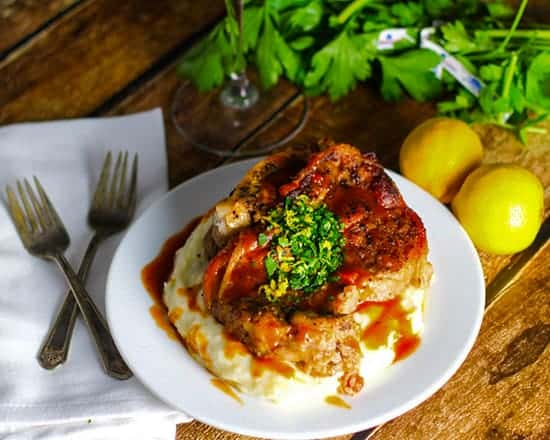 Osso Bucco recipe from Platings & Pairings, from Cooking Chat red wine pairings for winter roundup.