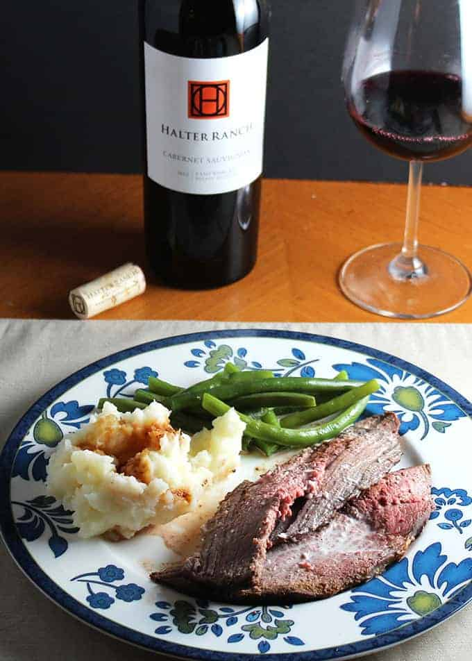 Spoon Roast with Horseradish Cream features tender beef cooked just right, a tasty sauce, and a great red wine pairing. From Cooking Chat roundup post.