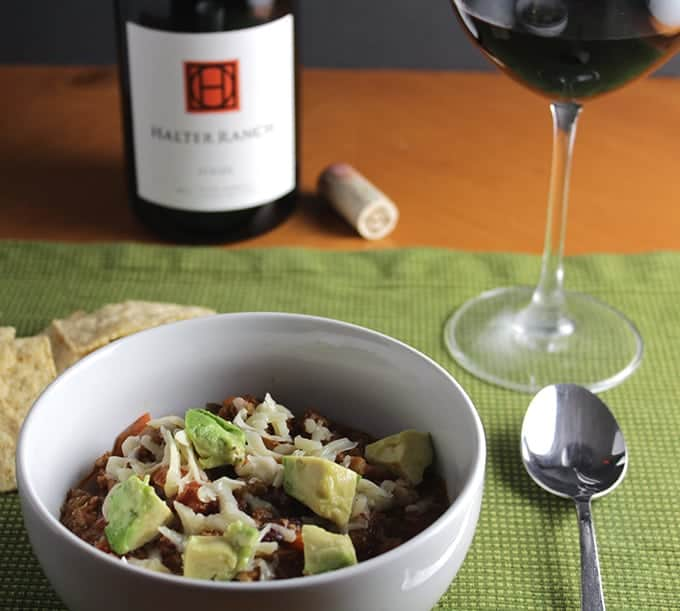 turkey chili and red wine pairing