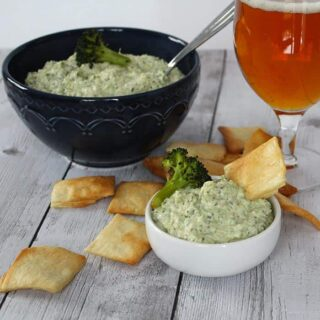 Roasted Broccoli Artichoke Dip #SundaySupper