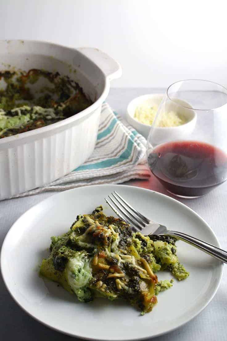 serve kale pesto lasagna with an Italian red wine.