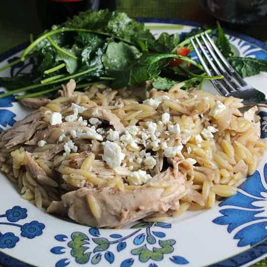 Middle Eastern Chicken Orzo is a tasty dinner recipe for the whole family.