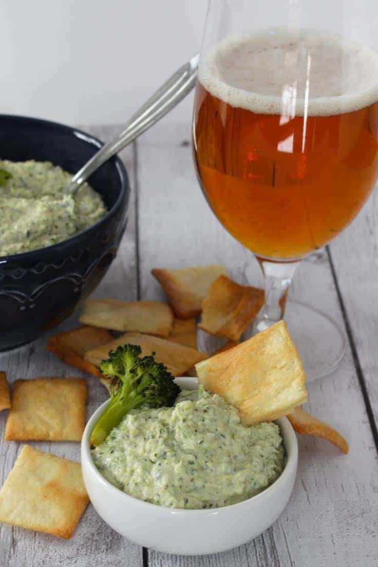 roasted broccoli artichoke dip recipe makes a tasty appetizer.