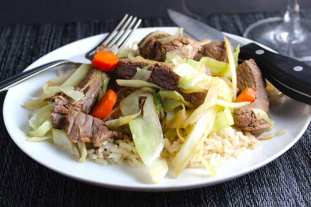 steak and cabbage stir fry recipe.