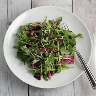 Arugula Salad with Maple Vinaigrette #SundaySupper