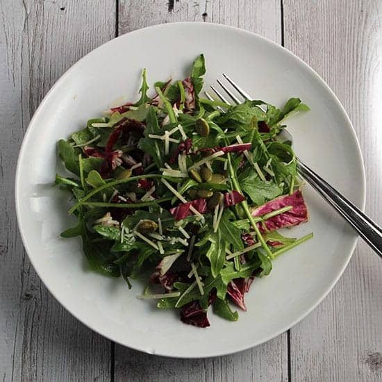 Arugula Salad with Maple Vinaigrette