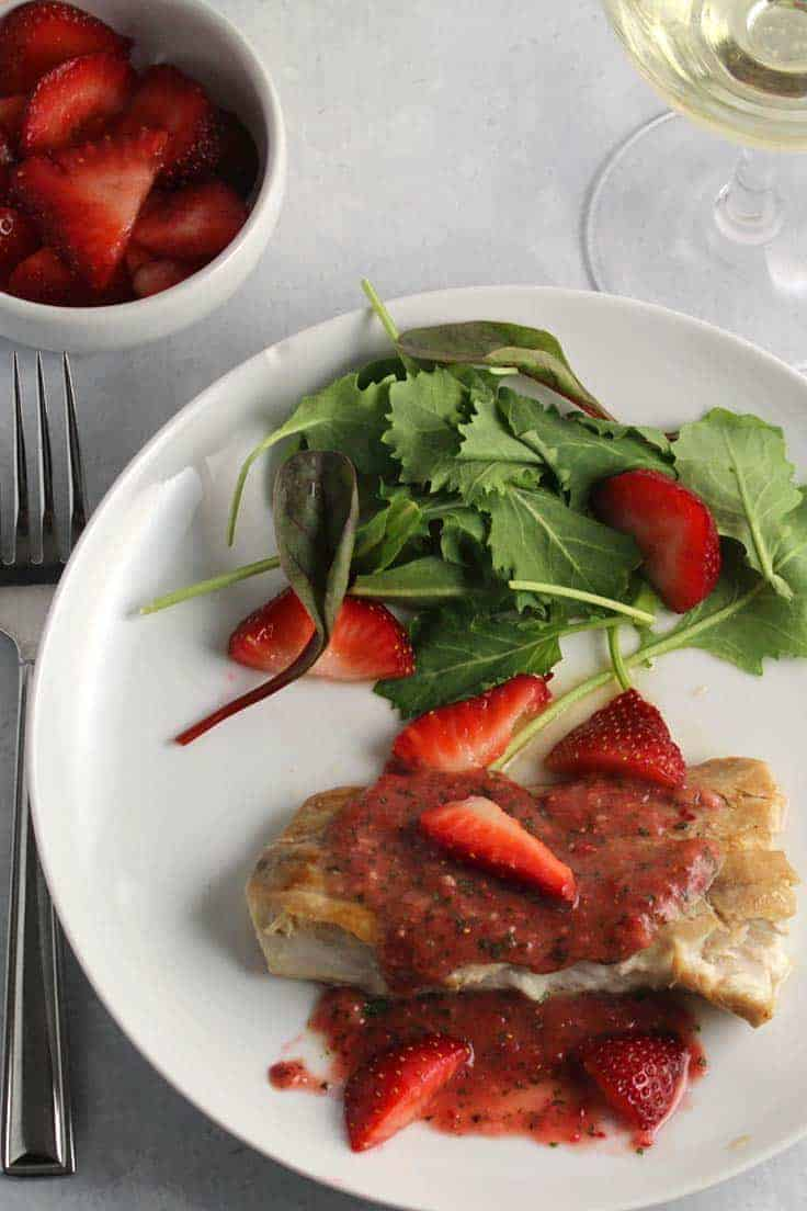 Mahi Mahi with Strawberry Sauce makes great use of fresh Florida strawberries, bringing a taste of summer into your kitchen no matter how cold!
