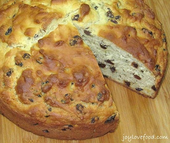 Irish Soda Bread with Caraway and Raisins, in Irish food roundup
