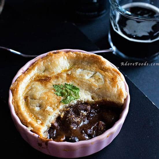Beef and Guinness Pie featured in real Irish food roundup.