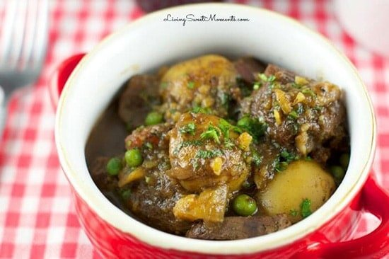 Guinness Beef Stew from Living Sweet Moments, in Irish food for St. Patrick's Day article.