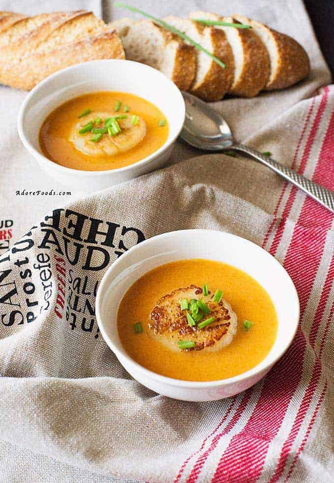 Irish Scallop Bisque from Adore Foods, featured in Real Irish Food article.
