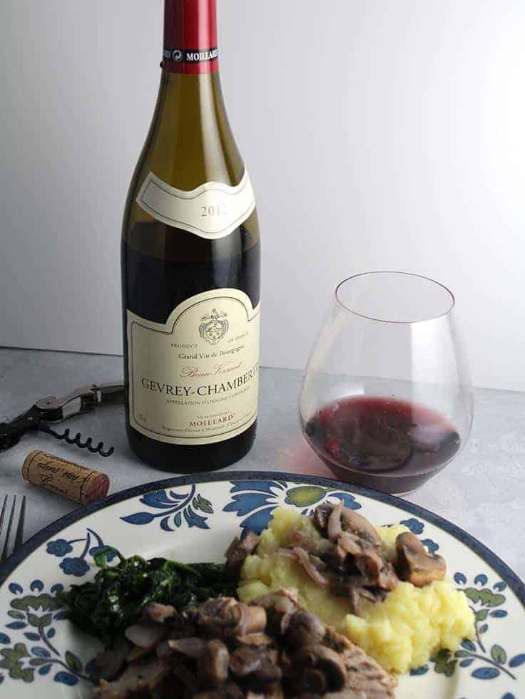 Moillard Gevrey-Chambertin red Burgundy pairs well with pork tenderloin.