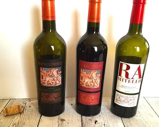 Molise wine pairing lineup.