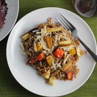 Roasted Root Vegetable Farro #SundaySupper