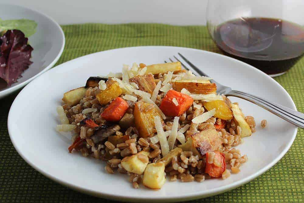 roasted root vegetable farro