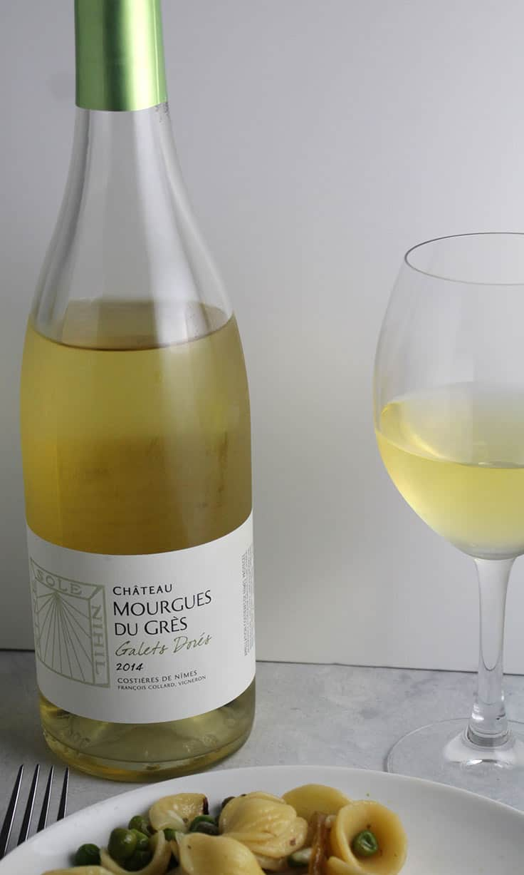 Chateau Mourgues du Gres is a very nice white Rhone blend.