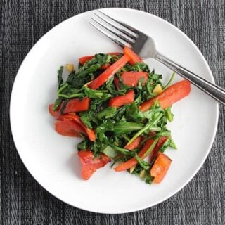 sautéed arugula with red bell peppers