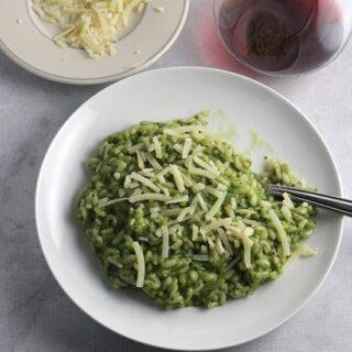 Tuscan Kale Pesto Risotto #SundaySupper