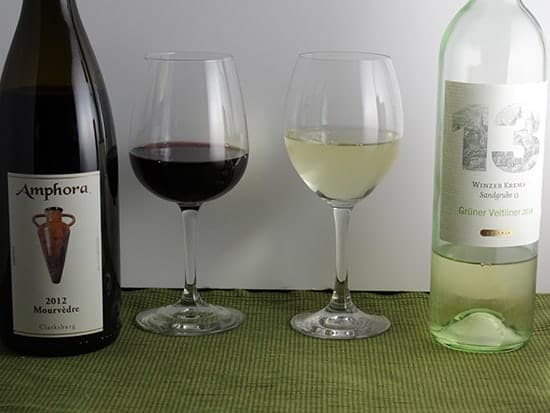 red and white wine choices to pair with enchiladas.