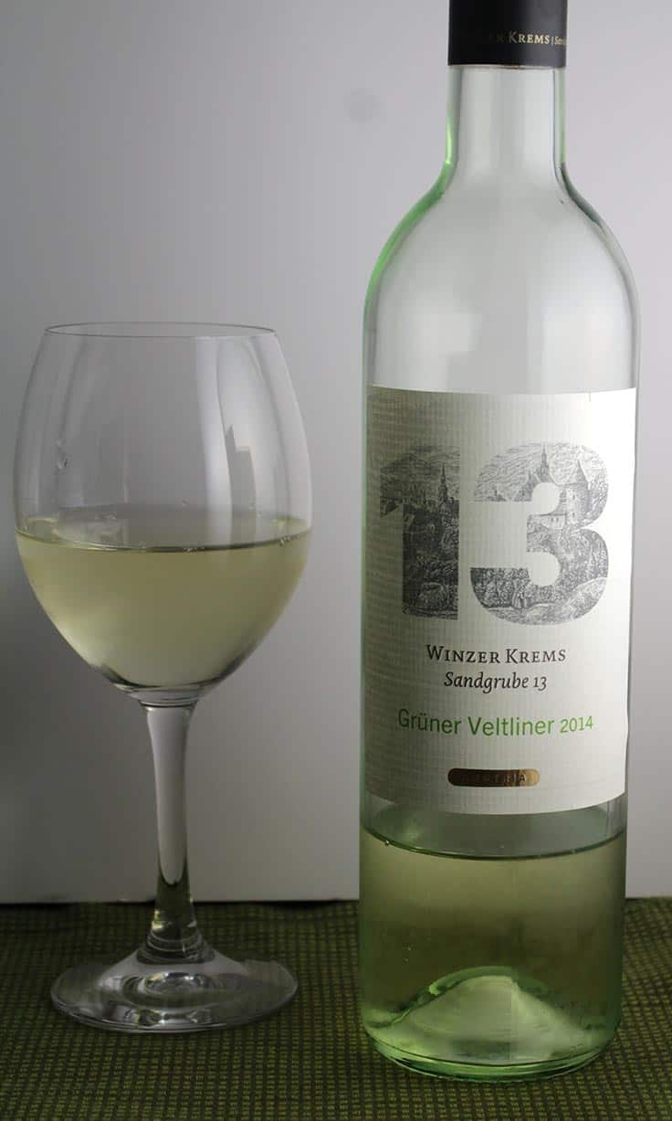 Winzer Krems Gruner Veltliner is a refreshing white wine that can pair with spicy foods such as enchiladas.