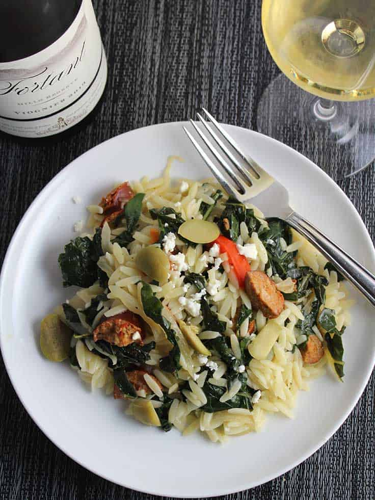 Fortant Viogner and food pairing, from Cooking Chat summer wine values article.