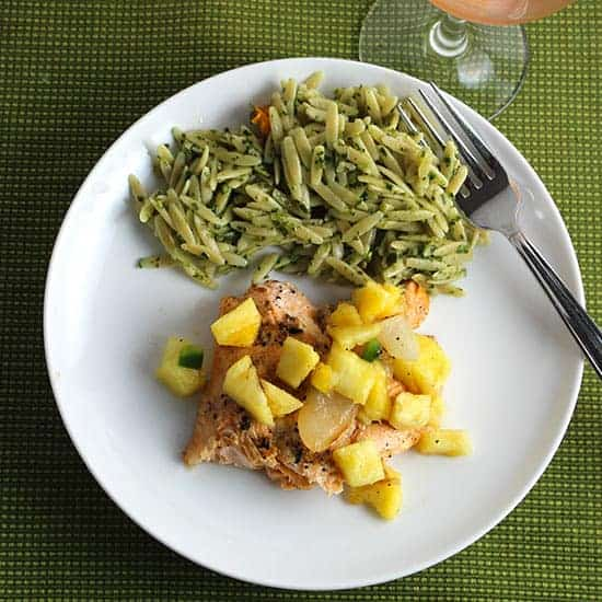 Grilled Arctic Char with Pineapple Salsa