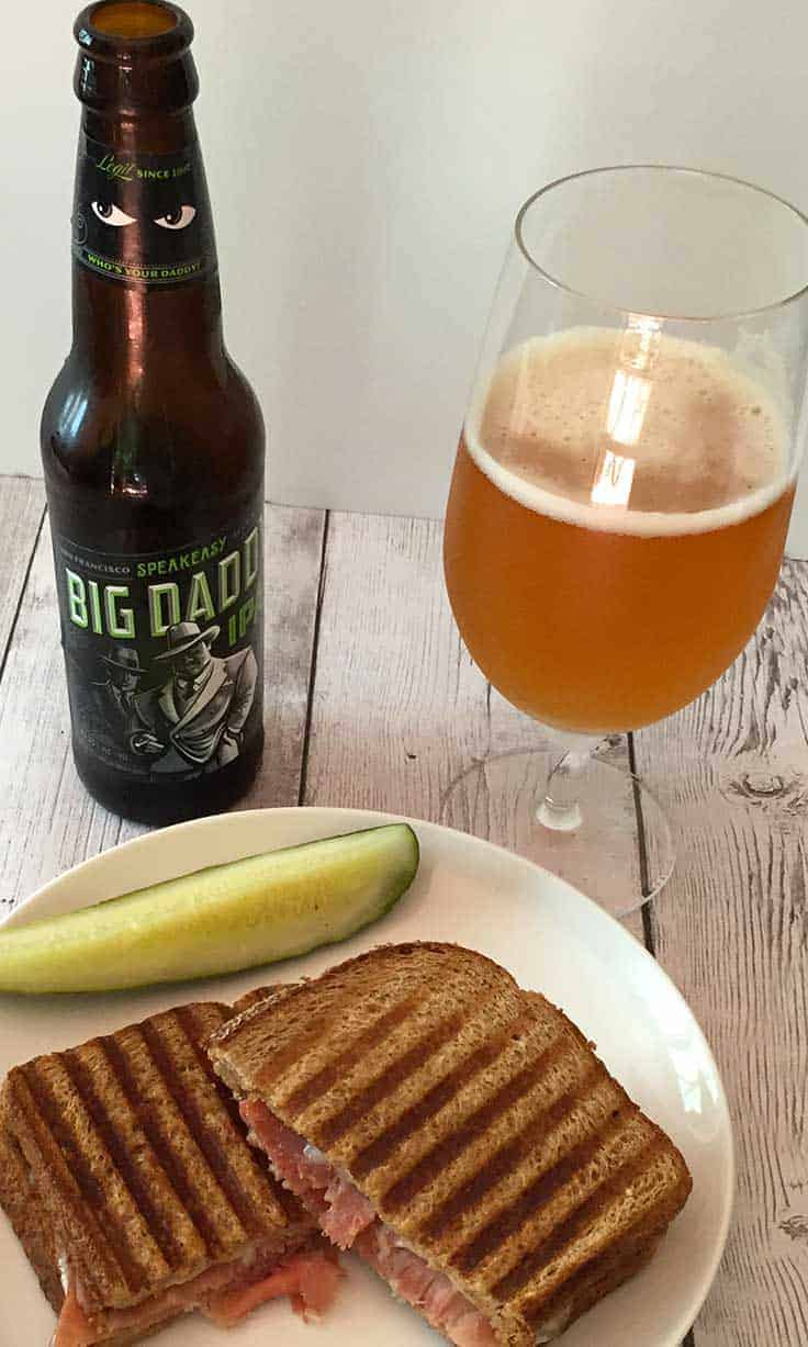 Big Daddy IPA from Speakeasy, great quality beer that pairs well with a ham panini.