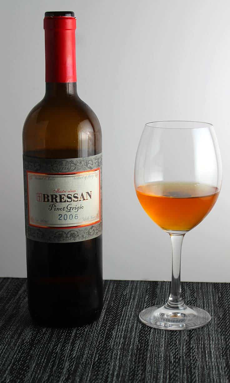 2006 Bressan Pinot Grigio is an excellent example of an orange wine.