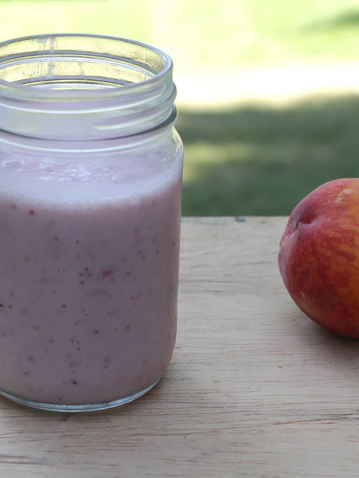 Dairy-Free Strawberry Peach Smoothie is delicious healthy recipe.