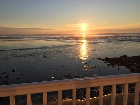 View from our deck at the Sparhawk Hotel, Ogunquit, Maine.