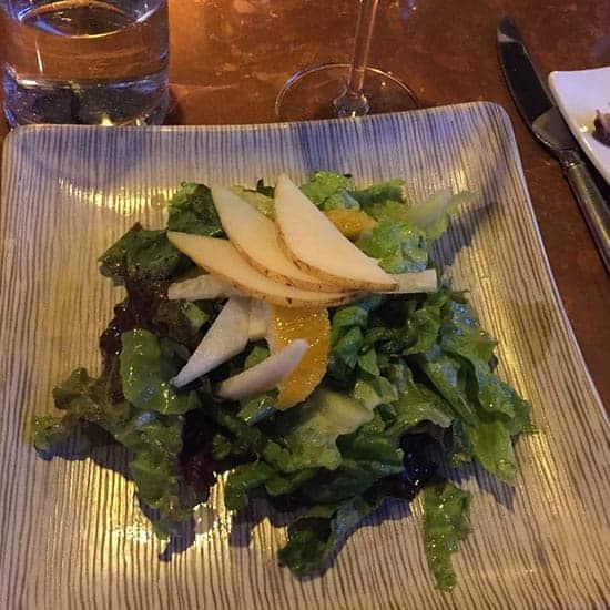 tasty salad at M.C. Perkins Cove in Ogunquit, Maine.