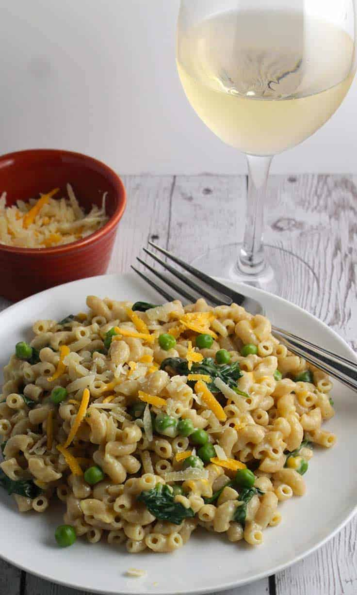 Founder's Mac and Cheese paired well with a Pinot Gris wine from Oregon.