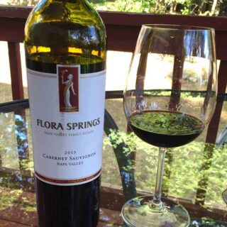 2013 Flora Springs Cabernet, one of Cooking Chat's wine picks for #CabernetDay.