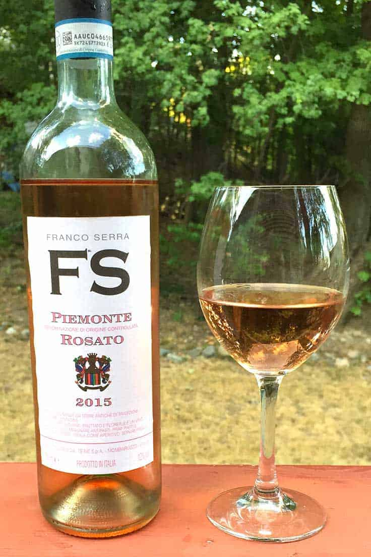 Franco Serra Piemonte Rosato is a good quality wine made from Barbera grapes. Pair with seafood or a simple pasta dish.