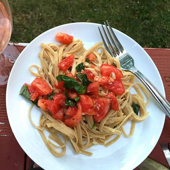 Fresh Tomato Salsa Pasta recipe