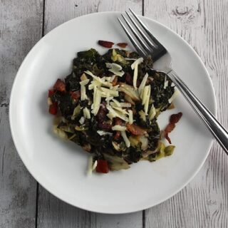 Greens with Gruyere and Bacon