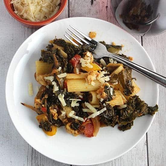 Kale and Tempeh Pasta