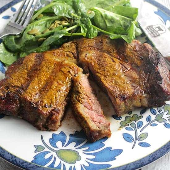 Grilled Turmeric Spiced Steak