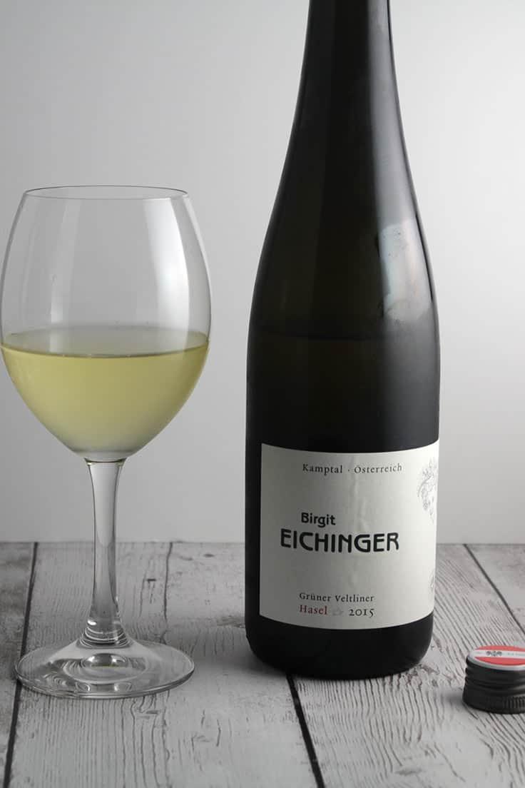 Eichinger Grüner Veltliner, a good quality white wine from Austria.