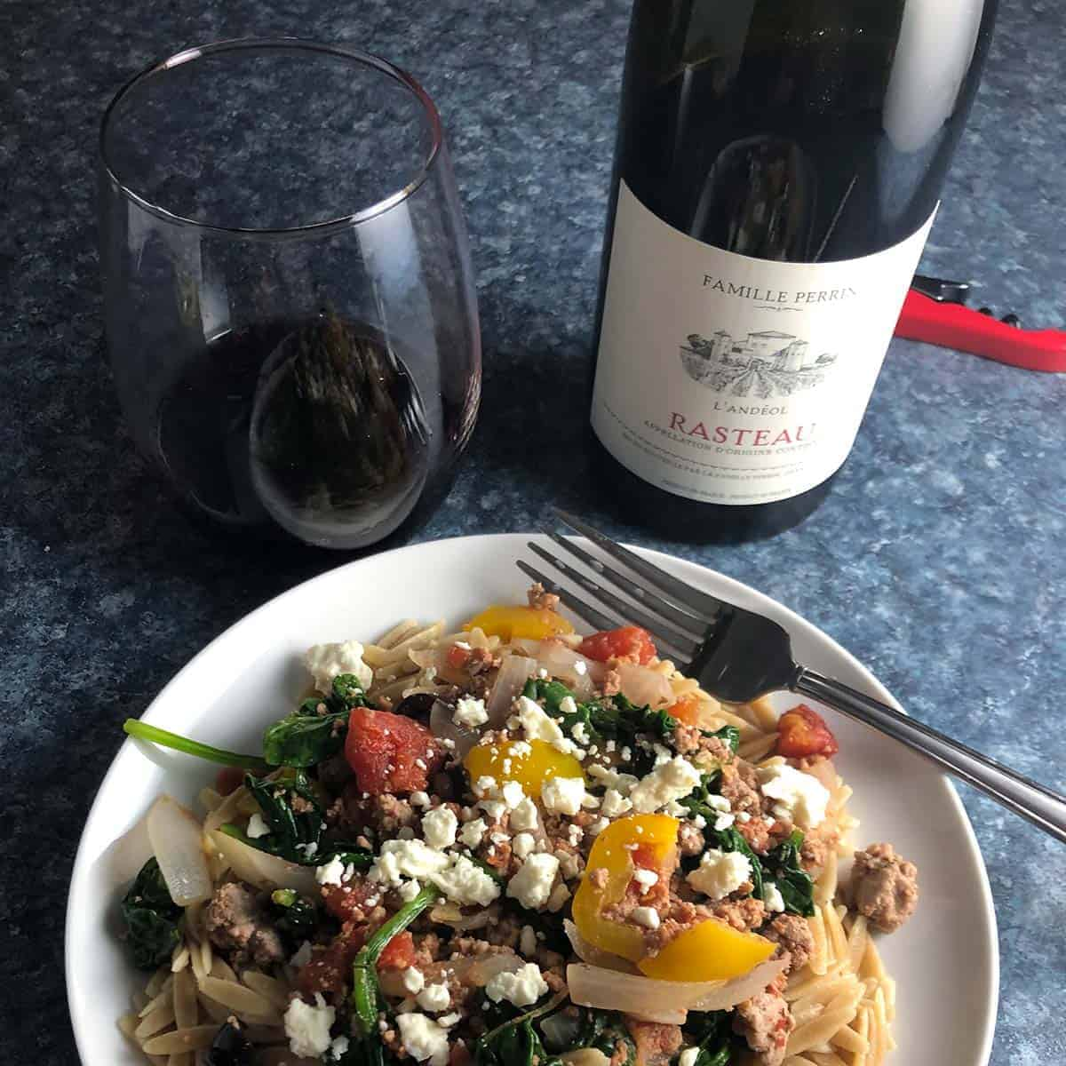 ground turkey skillet with wine pairing